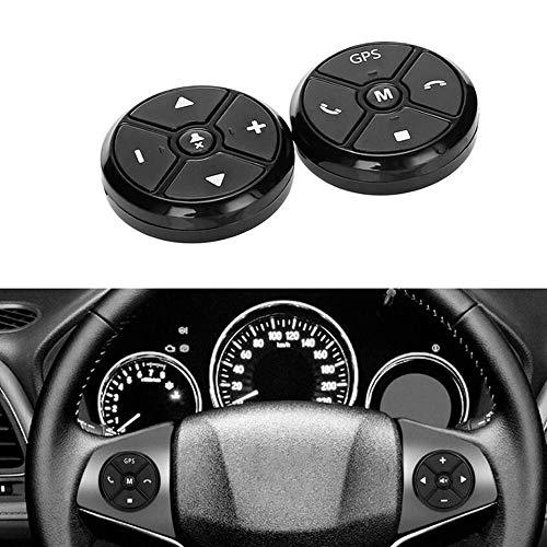 PolarLander Universal Wireless Car Steering Wheel Controller 4 Key Music DVD GPS Navigation Steering Wheel Radio Remote Control Buttons Black