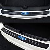 Auto Acciaio Inossidabile Adesivi Baule della Protezione Paraurti Posteriore Protettive Porte Fasce Decorative per Audi Q3 2012-2018 Rear Guard Bumper Protector Trunk Stickers