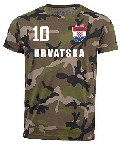 aprom Kroatien Camouflage T-Shirt - All-10 - Trikot Army Look WM World Cup Hrvatska (L)