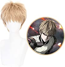 WerNerk ONE Punch-Man Character Fubuki Genos Tatsumaki Play Cosplay Wigs Anime Hair Synthetic Hair(Genos)