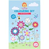 Colouring Set for Girls. Flowers Colouring Book Activity Set for Girls. Great travel activity packs for kids / Activity Book. Great Gifts for Girls 6 years old by Tiger Tribe
