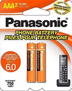 Panasonic HHR4DPA Genuine AAA NiMH Rechargeable Batteries for DECT Cordless Phones, 2 Pack,Orange (B001ID49BO) | Amazon price tracker / tracking, Amazon price history charts, Amazon price watches, Amazon price drop alerts