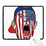 DIYthinker EE.UU. Bandera facial Pintura de maquillaje Cap antideslizante Mousepad Oficina Juego Negro Titched Bordes regalo