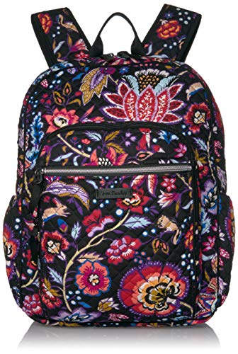 Vera Bradley Women's Iconic Signature Cotton Campus Backpack, Foxwood, One Size