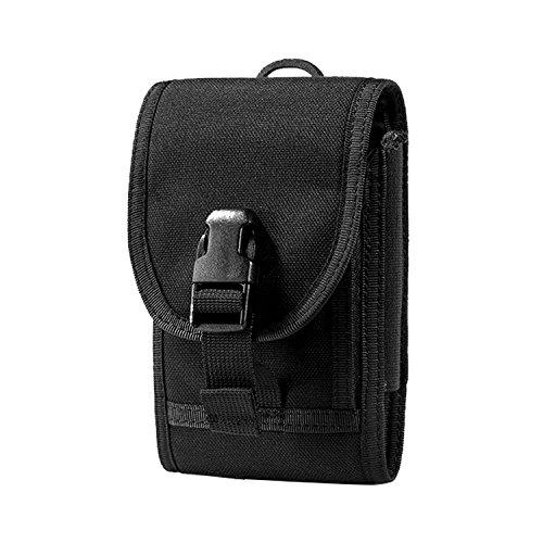 OneTigris Molle Taktische Handytasche Schutztasche für iPhone 7/iPhone 7 plus/iPhone6/iPhone 6 Plus/iPhone 6s/iPhone 6s Plus (Schwarz - mit Schnalle)