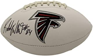 Roddy White Signed Football - Logo 22121 - JSA Certified - Autographed Footballs