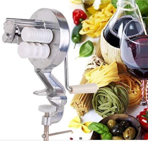 Silber Aluminiumlegierung Spaghetti Nudelmaschine Cavatelli Fettuccine Nudelmaschine Maker Home Küche Pasta Cooking Helper