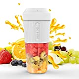 Portable Blender, Smoothie Juicer Cup - 4 Blades in 3D, Fruit Mixing Machine with 2000mAh USB...
