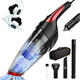 Solpuo Corded Car Vacuum Cleaner, 6800 Pa Powerful Suction Portable Vacuum Cleaner for Car Cleaning, 16.4 Feet Power Cord, Come with Carrying Bag - Red