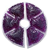 Supvox Brustpflege Brust Therapie Pack Thermopad Eisbeutel Thermoperlen Wärmekissen für Brust Wiederverwendbare Gel Pad 2 Stücke (Lila)