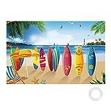 HAKOTOM Pancarta hawaiana para fiestas tropicales, decoración de playa Aloha Luau, telón de fondo para fotografía de verano, playa, piscina, boda, decoración de mesa (72.8 x 43.3 pulgadas)