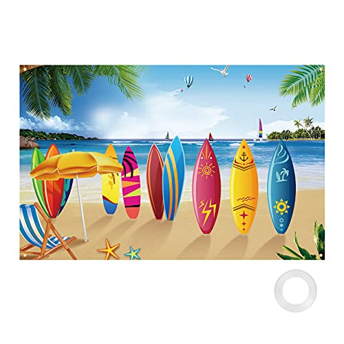 HAKOTOM Pancarta hawaiana para fiestas tropicales, decoración de playa Aloha Luau, telón...