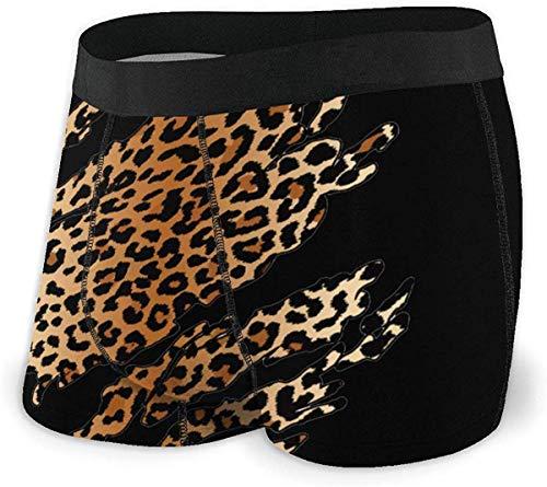 Wild Leopard Inside Underwear for Men Calzoncillos bóxer cómodos con Pretina elástica Cómodo