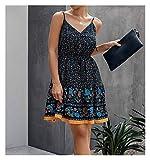 JINSUOZY DXXLD - Vestido de verano para mujer, de algodón puro, mini falda de moda, sexy, corta, sin espalda,...