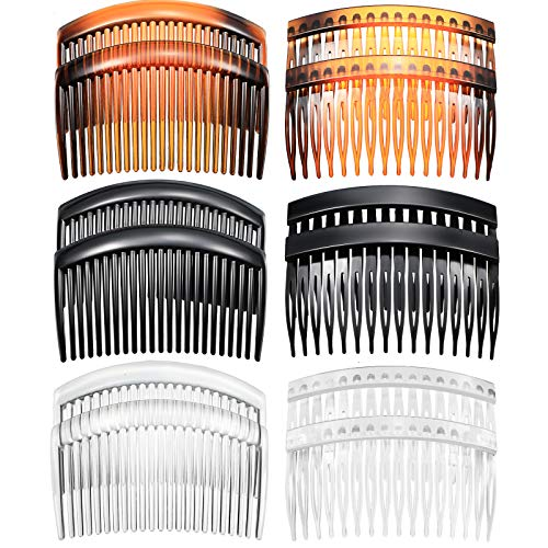 12 Pieces French Side Combs Plastic Twist Comb Strong Hold Hair Clips Hair...