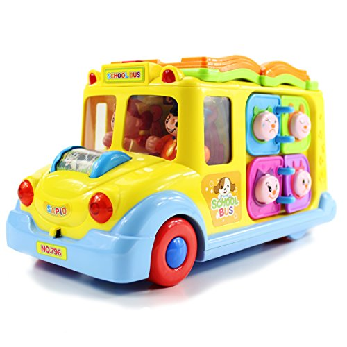 fisca Intellectual Musical School Bus, Learning Educational Toys for Baby &...