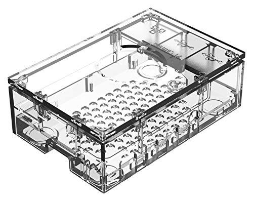 Raspberry Pi 4 Hülle, transparent, Korpusfarbe transparent, für Raspberry Pi 4 Board, Serie Raspberry Pi Cases, Gehäuse und 19 Zoll Schrank-Racks