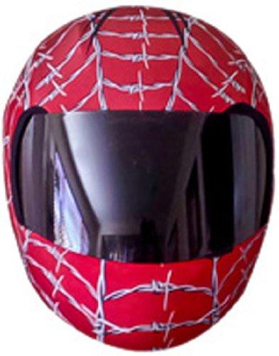 SkullSkins Elastischer Motorrad Roller Quad Motorradhelm Helm Überzug / Bezug - Wired Web Red