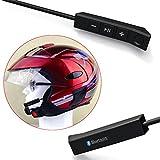Casque de moto Bluetooth Intercom pour moto, pour gérer les appels téléphoniques, la musique, le volume et utilisable pour l'équitation et le ski