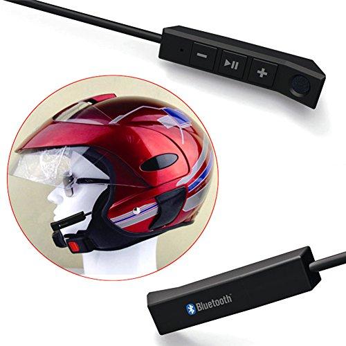 Casco de moto Bluetooth Intercomunicador Auricular Moto Sistema de Comunicación Soporte Llamadas de Teléfono de Música Volumen de Sonido Larga Espera para Equitación, Esquí