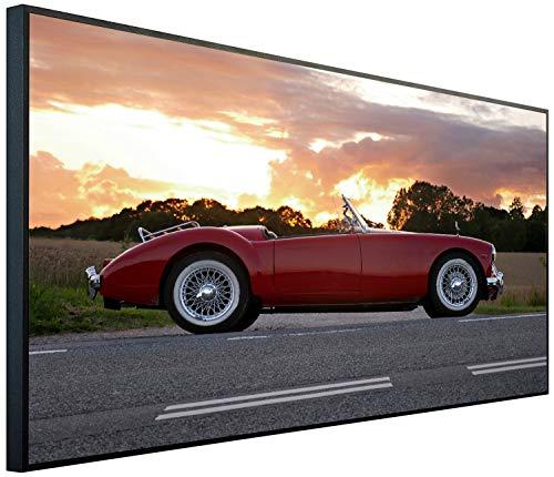Ecowelle Infrarotheizung mit Bild | 1200 Watt | 120x60x2cm | Infrarot Heizung| | Made in Germany| e 145 klassisches Auto