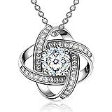 Alex Perry collana argento 925 regali per le donne per le ragazze regalo gioielli in oro bianco san-valentino festa della mamma natale compleanno anniversario regali per mamma signore moglie fidanzata