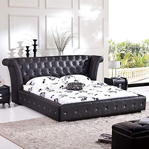 JVmoebel Chesterfield - Cama grande XXL para cabecero de cama de hotel de terciopelo negro con orejas