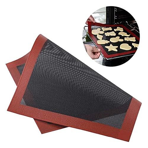 Tapis de cuisson micro-perforé résistant à la chaleur, antiadhésif, réutilisable, haute température, cuisson en dentelle, gâteau, biscuits.