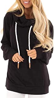 drawstring cowl neck sweatshirt