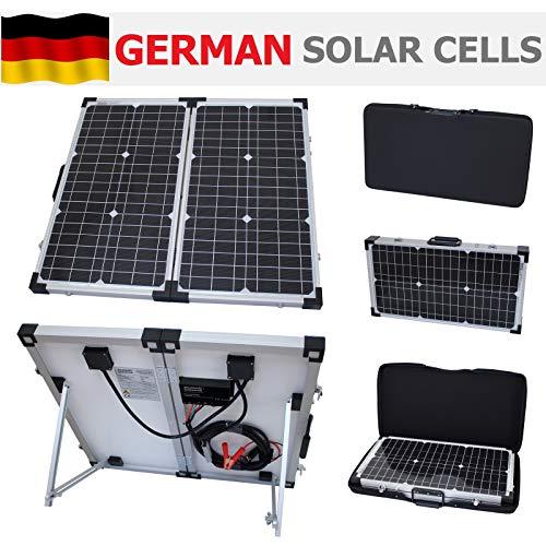 Photonic Universe - Kit de carga solar plegable portátil de 60 W y 12 V con funda protectora y cable de 5 m para autocaravana, caravana, camping, coche, furgoneta, barco, yate o cualquier otro sistema de 12 V