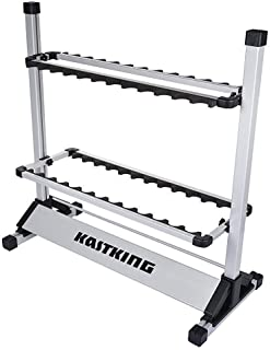 KastKing Fishing Rod Rack – Perfect Fishing Rod Holder – Holds Up to 24 Rods..