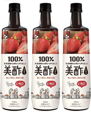 Petitzel 美酢 ミチョ 苺 900ml 3本 いちご ストロベリー