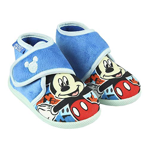 CERDÁ LIFE'S LITTLE MOMENTS 2300004559_T026-C37, Zapatillas de Casa Cerradas Niño de Mickey-Licencia Oficial Disney para Niños, Azul, 26 EU