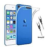 iPod touch 7 / iPod touch 6(5) ケース 透明 カバー クリア ストラップホール付属 &ネックストラップ付 全面保護 TPUソフトシリコン 薄型 耐衝撃 一体型 人気 メッキ加工 防指紋、散熱加工の薄型、軽量 touch 7
