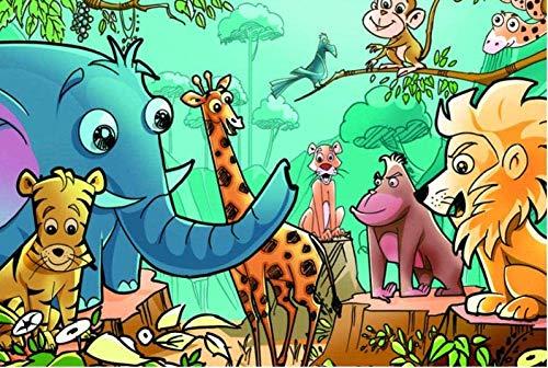 OUCUCK Rompecabezas de Madera de 1000 Piezas para Adultos y niños y ndash; Happy Zoo 75 x 50cm (30x20in)