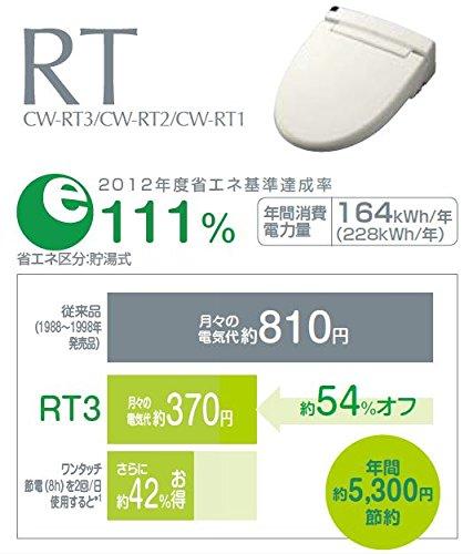 INAX【日本製で2年保証&キレイ便座・脱臭・コードレスリモコンの貯湯式】温水洗浄便座シャワートイレオフホワイトCW-RT2/BN8