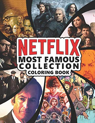 Netflix Most Famous Collection Coloring Book: High Quality L