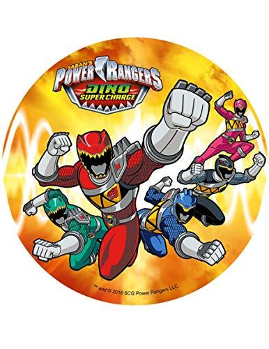 Generique - Disque Jaune Azyme Power Rangers 21 cm