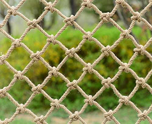 Seguridad Niños Escalada Red De Cuerda De Cáñamo - Protección De De Decoración Resistencia Antidesgaste Balcón Protección De Barandilla De Valla, Cuerda De 6 Mm Agujero De 10 Cm Malla Protectora Balco