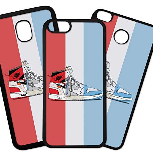 Tuscaprichosonline Fundas De Moviles Carcasas De Moviles Funda Carcasa Compatible con Marca Deportiva Nike Air Jordan Zapatilla Fondo Rojo Blanco Azul