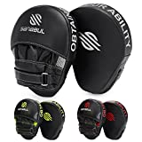 Sanabul Essential Curved Boxing MMA Punching Mitts (Metallic Silver)