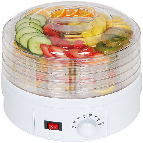 Best Choice Products 5-Tray BPA-Free Portable Kitchen Electric Food Dehydrator Machine for Fruit, Meats, Herbs w/Adjustable Thermostat, White