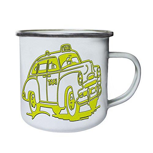 Coche Taxi Driver retro vintage Retro, lata, taza del esmalte 10oz/280ml y505e