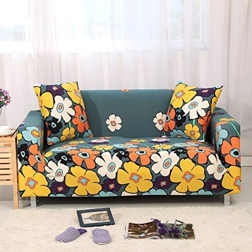 PPOS Funda de sofá elástica Estampada geométrica elástica para Sala de Estar Funda seccional Safa Funiture Protector A6 1 Asiento 90-140cm-1pc