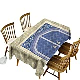 Moroccan Wholesale Tablecloths Persian Ottoman Culture Spillproof Fabric Tablecloth 60 x 84 Inch