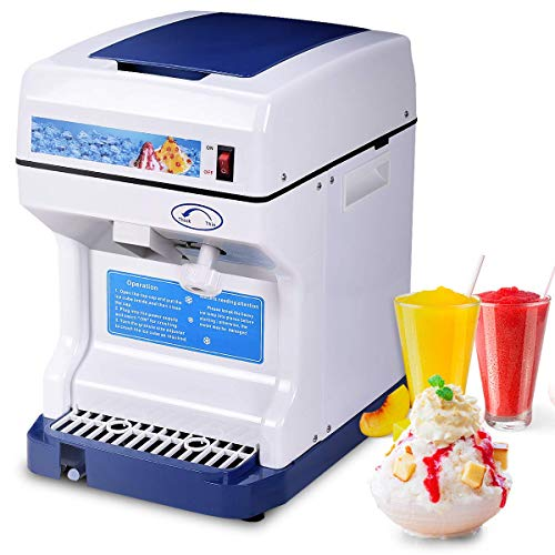 Costzon Electric Ice Shaver, 250W Snow Cone Maker, 265 LBS/H, Ice Crusher w/Adjustable Ice Texture, Ideal for Family, School, Church, Kids Camp, Restaurants, Bars Or Commercial Use