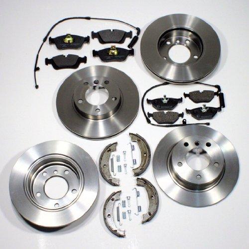 Bremsscheiben Bremsen Bremsbeläge Warnkabel vorne hinten + Handbremse Zubehör für hinten