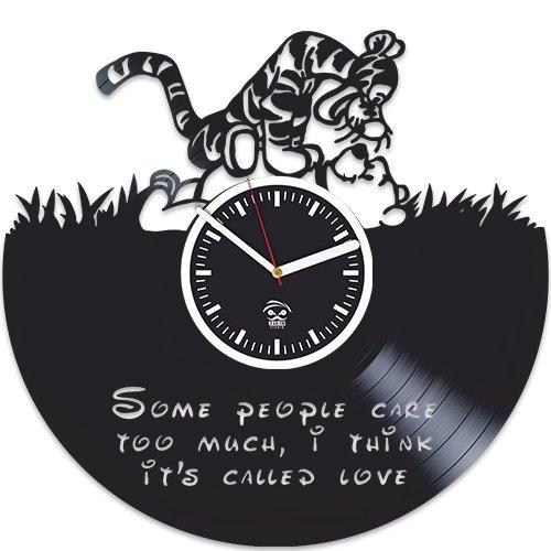 The Tigger Movie Vinyl Clock Disney Wall Clock Vinyl Record Clock Pooh Bear Clock Clock for Kids Lp Clock Living room decor Vintage