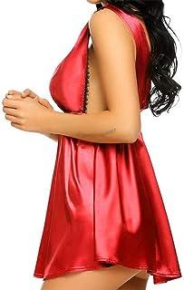 104c186d976 Women Sexy Ladies Lingerie Sleepwear Women Babydoll Robe Night Lace Dress