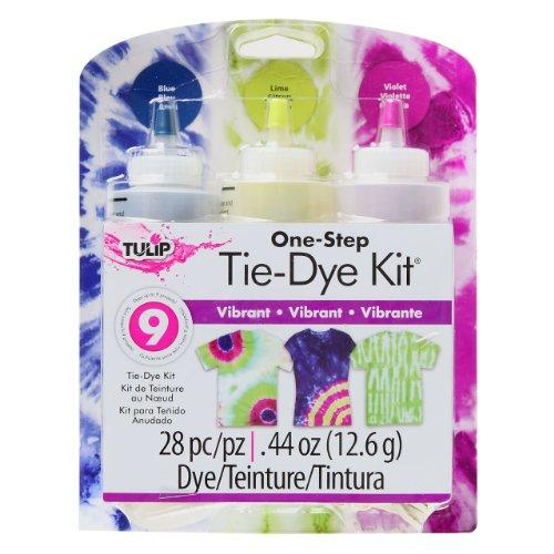 Tulip Tie Fabric Dye Kit, Vibrant, 3 colors, 0.44oz